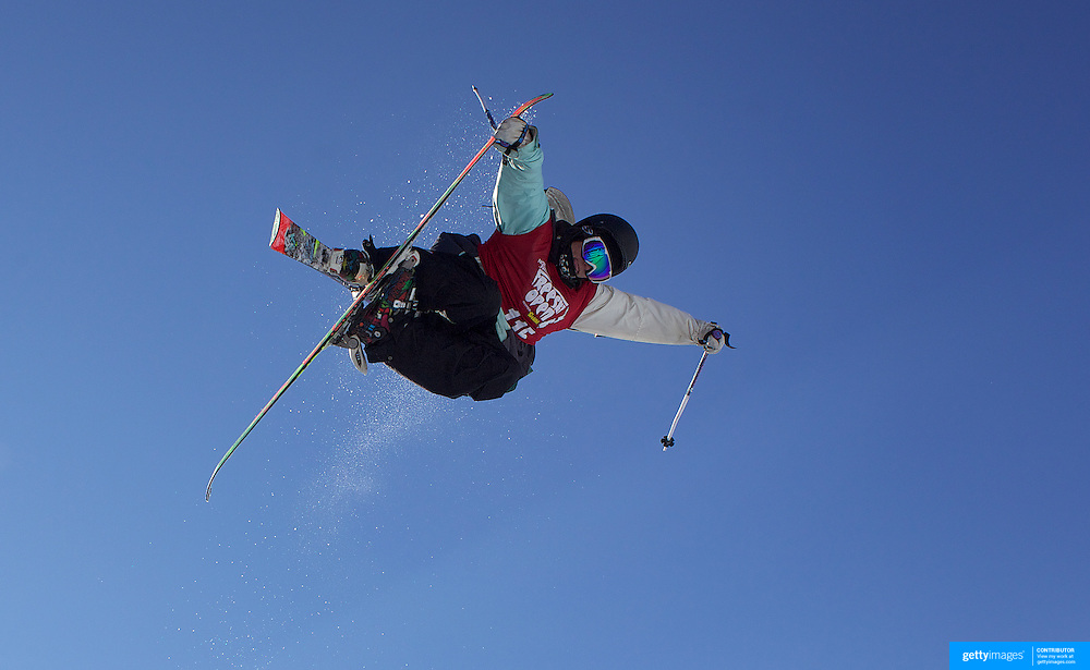 Taylor King, USA, in action in the Men's Halfpipe Finals during The North Face Freeski Open at Snow Park, Wanaka, New Zealand, 3rd September 2011. Photo Tim Clayton...