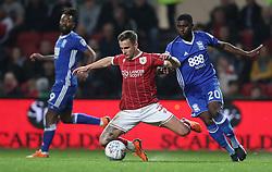 Bristol City's Joe Bryan and Birmingham City's Jeremie Boga