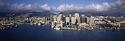 Buildings at the waterfront, Honolulu, Hawaii, USA