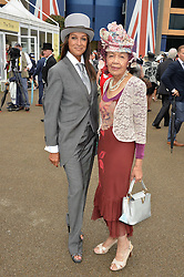 Left to right, JACKIE ST.CLAIR and her mother at day one of the Royal Ascot 2016 Racing Festival at Ascot Racecourse, Berkshire on 14th June 2016.