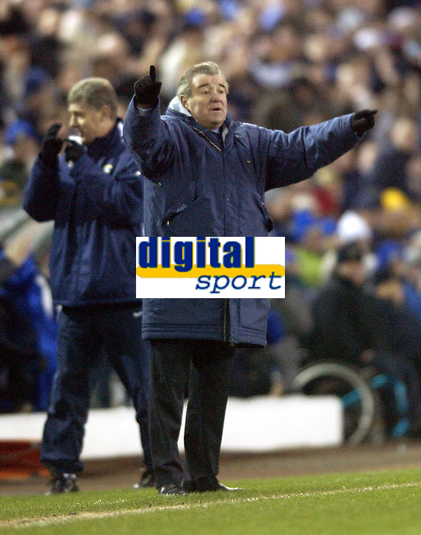 Photo. Jed Wee<br />Leeds United v Gillingham, AXA FA Cup Replay, Elland Road, Leeds. 04/02/2003.<br />Leeds manager Terry Venables.