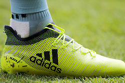 Detail of a Burnley players football boots