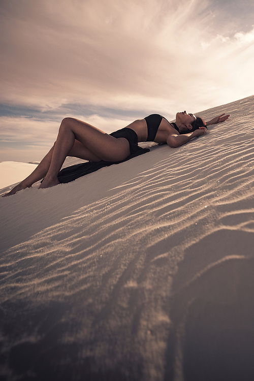 WHITESANDS Series featuring model Casey. Photos taken at White Sands National Monument in Alamogordo, New Mexico in the Southwest, USA. ©justinalexanderbartels.com