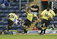 Photo: Aidan Ellis.<br /> Blackburn Rovers v Manchester City. The Barclays Premiership. 17/09/2006.<br /> City's Joey Barton celebrates the first goal