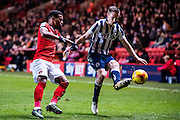{persons}, C21	Charlton Athletic Nathan Byrne (21), M18	Millwall midfielder Shane Ferguson (18)  during the EFL Sky Bet League 1 match between Charlton Athletic and Millwall at The Valley, London, England on 14 January 2017. Photo by Sebastian Frej.