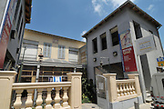 Israel, Tel Aviv, Neve Tzedek, established 1887, 22 years before the 1909 founding of the City of Tel Aviv, the first Jewish neighbourhood to be built outside the walls of the ancient port of Jaffa. Nachum Gutman's Museum of Art built in 1887