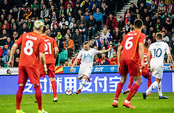 Jasmin Kurtič of Slovenia and Miha Zajc of Slovenia vs Egzijan Alioski of Macedonia and Visar Musliu of Macedonia and Eljif Elmas of Macedonia during football match between National teams of Slovenia and North Macedonia in Group G of UEFA Euro 2020 qualifications, on March 24, 2019 in SRC Stozice, Ljubljana, Slovenia.  Photo by Matic Ritonja / Sportida