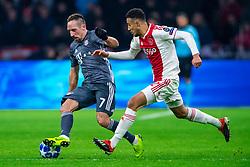 12-12-2018 NED: Champions League AFC Ajax - FC Bayern Munchen, Amsterdam<br /> Match day 6 Group E - Ajax - Bayern Munchen 3-3 / Franck Ribery #7 of Bayern Munich, Noussair Mazraoui #12 of Ajax