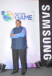 June 14, 2018 - Kolkata, India - Mr. Raju Pullan,Senior Vice President ,Consumer Electronics Business Samsung India at the Samsung to Upzize  UHD Tv on June 14,2018 in Kolkata,India. (Credit Image: © Debajyoti Chakraborty/NurPhoto via ZUMA Press)