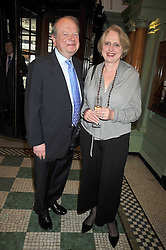 JOHN SERGEANT and his wife MARY at the 2009 Oldie of The Year Award lunch held at Simpson's in The Strand, London on 24th February 2009.