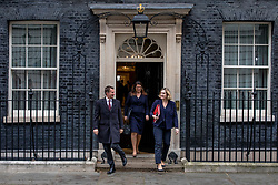 © Licensed to London News Pictures. 12/03/2019. London, UK. Foreign Secretary Jeremy Hunt (L), Minister of State for Immigration Caroline Nokes (centre) and Secretary of State for Work and Pensions Amber Rudd (R) leave 10 Downing Street after the Cabinet meeting. MPs will get a second meaningful vote on Prime Minister Theresa May's Brexit deal this evening. Photo credit: Rob Pinney/LNP