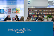 Amazon Publishing stand during day three of the London Book Fair on the 14th March 2019 at London Olympia in the United Kingdom.
