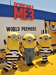 """Minions arrives at the """"Despicable Me 3"""" Los Angeles Premiere held at the Shrine Auditorium in Los Angeles, CA on Saturday, June 24, 2017.  (Photo By Sthanlee B. Mirador) *** Please Use Credit from Credit Field ***"""