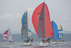 Caledonia MacBrayne Largs Regatta Week 2016<br /> <br /> Class 2 downwind with Cool Bandit<br /> <br /> Credit Marc Turner / PFM Pictures.co.uk