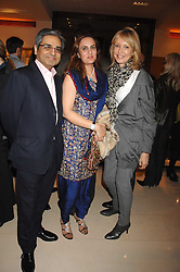 Left to right, MOHAMMED & SANIGA SYED and SUE WHITELEY at a reception to launch the 2007 Louis Vuitton Christmas windows in collaboration with Central Saint Martins College of Art & Design held at 17-18 New Bond Street, London W1 on 7th November 2007.<br /><br />NON EXCLUSIVE - WORLD RIGHTS
