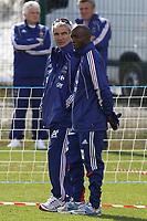 FOOTBALL - MISCS - WORLD CUP 2010 - TIGNES (FRANCE) - FRANCE TEAM TRAINING - 20/05/2010 - PHOTO ERIC BRETAGNON / DPPI - RAYMOND DOMENECH / LASSANA DIARRA