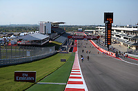 Fans on the circuit.<br /> United States Grand Prix, Thursday 30th October 2014. Circuit of the Americas, Austin, Texas, USA.