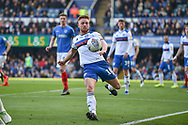 Rochdale Midfielder, Callum Camps (10) with a clearance  during the EFL Sky Bet League 1 match between Portsmouth and Rochdale at Fratton Park, Portsmouth, England on 13 April 2019.