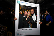 Guests at the Sail Aid UK charity dinner this evening at Land Rover BAR in Portsmouth, the home of Sir Ben Ainslie's America's Cup team. The Sail Aid UK charity was created following the devastating hurricanes that struck the Caribbean in September this year. Their mission is to help those Islands and their communities that were so tragically affected by the hurricanes to rebuild, restore, and regenerate their communities, be it through educational, health and welfare, building, or tourism promotion projects.<br /> Picture date: Sunday November 12, 2017.<br /> Photograph by Christopher Ison ©<br /> 07544044177<br /> chris@christopherison.com<br /> www.christopherison.com