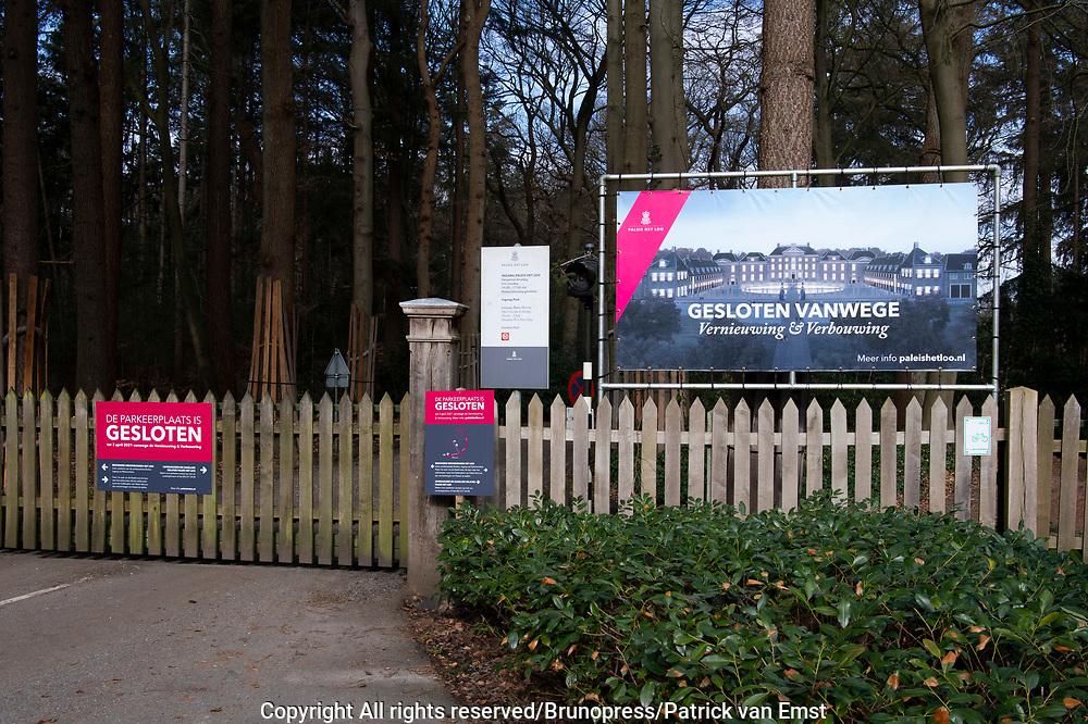 APELDOORN, 01-03-2021 , Paleis Het Loo<br /> Museum Paleis Het Loo behoort tot de meest populaire musea van Nederland. Door veranderende behoeften en wensen en noodzakelijk onderhoud is het tijd voor vernieuwing, verbouwing en verbetering! Dit gebeurt vanwege noodzakelijk onderhoud en het uitbreiden van de bezoekersfaciliteiten. Op 8 januari 2018 is de renovatie van het paleis begonnen.