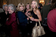 MRS. GEORGE BUDD; DR. CHRISTIAN CARRITT; RACHEL JOHNSON; LISA HILTON, , The Dowager Duchess od Devonshire and Catherine Ostler editor of the Tatler host a party to celebrate Penguin's reissue of Nancy Mitford's ' Wigs on the Green.'  The French Salon. Claridge's. London. 10 March 2010.