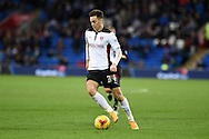 Tom Lawrence of Rotherham Utd in action. Skybet football league championship match, Cardiff city v Rotherham Utd at the Cardiff city stadium in Cardiff, South Wales on Saturday 6th December 2014<br /> pic by Andrew Orchard, Andrew Orchard sports photography.