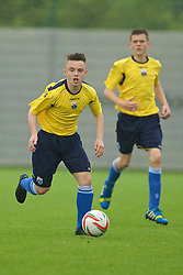 NEWPORT, WALES - Wednesday, May 28, 2014: South WPL Academy Boys' Jay Williams during the Welsh Football Trust Cymru Cup 2014 at Dragon Park. (Pic by David Rawcliffe/Propaganda)