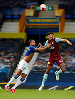 Football - 2019 / 2020 Premier League - Everton vs Aston Villa<br /> <br /> Tyrone Mings of Aston Villa  and Dominic Calvert-Lewin of Everton at Goodison Park<br /> <br /> COLORSPORT/LYNNE CAMERON