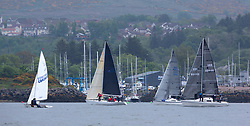 Day 2 Scottish Series, SAILING, Scotland.<br /> <br /> Class 3 Fleet, off Kip Marina,<br /> <br /> The Scottish Series, hosted by the Clyde Cruising Club is an annual series of races for sailing yachts held each spring. Normally held in Loch Fyne the event moved to three Clyde locations due to current restrictions. <br /> <br /> Light winds did not deter the racing taking place at East Patch, Inverkip and off Largs over the bank holiday weekend 28-30 May. <br /> <br /> Image Credit : Marc Turner / CCC