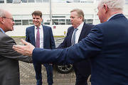 11/07/2017  REPRO FREE:    Mr George McCourt  Head of innovation GMIT Dr Rick officer VP for research GMIT and Minister of State Pat Breen, Department of Enterprise and Innovation, and Barry Egan Enterprise Ireland   on a visit to the iHub and GMIT . Photo:Andrew Downes, xposure .