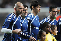 20100125: LISBON, PORTUGAL - 7th Charity Football Match against Poverty: SL Benfica All Stars vs Zidane & Kaka Friends. All the money rose from ticket sales and donations will go to the victims of Haiti Earthquake. In picture: Zidane, Figo, Kaka and Pauleta. PHOTO: Alexandre Pona/CITYFILES