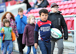 Half-time parade at Ashton Gate Stadium - Mandatory by-line: Paul Knight/JMP - 22/10/2017 - RUGBY - Ashton Gate Stadium - Bristol, England - Bristol Rugby v Doncaster Knights - B&I Cup