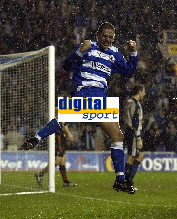 Fotball<br /> England 2004/2005<br /> Foto: SBI/Digitalsport<br /> NORWAY ONLY<br /> 22.01.2005<br /> <br /> Reading v Ipswich Town Coca-Cola Championship<br /> <br /> Ivar Ingimarsson of Reading celebrates after scoring a last minute equaliser.
