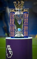 The Premier League Trophy on show before Chelsea Liverpool game<br /> <br /> Photographer Ashley Western/CameraSport<br /> <br /> The Premier League - Chelsea v Liverpool - Friday 16th September 2016 - Stamford Bridge - London<br /> <br /> World Copyright © 2016 CameraSport. All rights reserved. 43 Linden Ave. Countesthorpe. Leicester. England. LE8 5PG - Tel: +44 (0) 116 277 4147 - admin@camerasport.com - www.camerasport.com