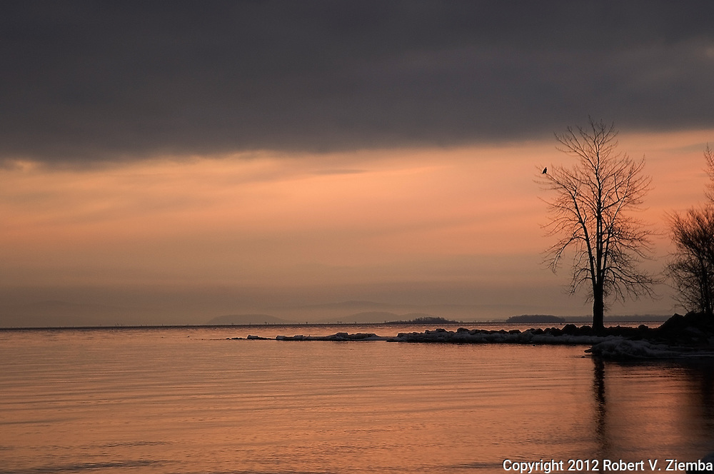 """Dawn at Ausable Point""""-An image of the point at Ausable Point State Park, Lake Champlain, New York."""