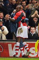 Photo: Daniel Hambury.<br />Charlton Athletic v Manchester City. Barclays Premiership.<br />04/12/2005.<br />Charlton's Darren Bent celebrates his goal.