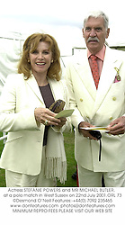 Actress STEFANIE POWERS and MR MICHAEL BUTLER,  at a polo match in West Sussex on 22nd July 2001.ORL 73