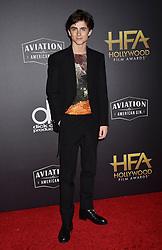 BEVERLY HILLS, CA - NOVEMBER 04: Sandy Powell arrives at the 22nd Annual Hollywood Film Awards at the Beverly Hilton Hotel on November 4, 2018 in Beverly Hills, California. 04 Nov 2018 Pictured: Timothee Chalamet. Photo credit: TM/ROT/Capital Pictures / MEGA TheMegaAgency.com +1 888 505 6342