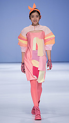 A model presents a creation designed by graduates of Beijing Institute of Fashion Technology during a fashion week of the institute in Beijing, capital of China, March 15, 2016. EXPA Pictures © 2016, PhotoCredit: EXPA/ Photoshot/ Li Jianbo<br /> <br /> *****ATTENTION - for AUT, SLO, CRO, SRB, BIH, MAZ, SUI only*****