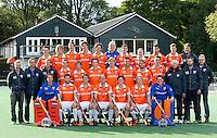BLOEMENDAA_ Heren I seizoen 2012-2013. COPYRIGHT KOEN SUYK<br /> <br /> Achterste RijVan Links naar rechts(1) Barend Boelaars,(12)Pelle Vos,(19) Max Vergnes,(20) Jord Beekmans, (17) Stijn Jolie, (26) Maurits Visser (k), (18) Fergus Kavanagh, (8) Matthew Swann, (4) Chris Ciriello, (1) Freek Martens, trainer Andre Morees Middelste Rij Van Links naar rechts Russell Garcia (Coach), Heiko Hulsker, Warner van der Vegt, (5) Diede van Puffelen, (10) Roel Bovendeert, (9) Ronald Brouwer, (21) Nick Meijer, (11) Glenn Schuurman, (15) Olmer Meijer, (3) Thomas van Doorn, Cees Koppelaar (looptrainer), Ramon Romeijn, Frederik Kooij. Voorste Rij, Van Links naar rechts: (2)  Jaap Stockman (k) , (22) Rogier Hofman,  (6) Eby Kessing, (14) Teun de Nooijer, (7) Wouter Jolie (aanvoerder) , (16) Tim Jenniskens, (25) Renz van der Wal (k)