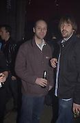 Gavin Turk and John Brown. Launch B.B.C. Four, Fashion St. London. © Copyright Photograph by Dafydd Jones 66 Stockwell Park Rd. London SW9 0DA Tel 020 7733 0108 www.dafjones.com