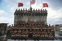 British Army,A Squadron of the 16th/5th Queen's Royal Lancers seen at the British base in Hadath,Beirut,Lebanon during peace-keeping duties in December 1983. Photograph by Terry Fincher