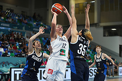 TENERIFE, Sept. 22, 2018  Alexia Chartereau (2nd L) of France shoots the ball during a Group A match against South Korea at the 2018 FIBA Women's Basketball World Cup at Quico Cabrera Arena in Santa Cruz de Tenerife, Spain, Sept. 22, 2018. France won 89-58. (Credit Image: © Zheng Huansong/Xinhua via ZUMA Wire)