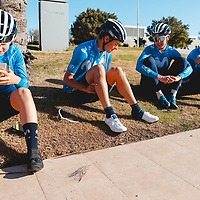 Lourdes Oyarbide, Barbara Guarischi, Aude Biannic, Jelena Eric. 2021 Movistar Team Training Camp, Almería. 15.1.2021.