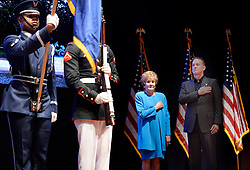 """Actor and Campaign Chair Tom Hanks and Elizabeth Dole Foundation Founder and President Elizabeth Dole look on during the launch of """"Hidden Heroes"""" campaign at the Capitol September 27, 2016 in Washington, DC. The Hidden Heroes campaign has been created to generate stronger support for America's 5.5 million military and veteran caregivers. Photo by Olivier Douliery/Abaca"""