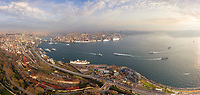 Aerial view of costal line at Istanbul, Turkey