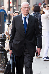 © Licensed to London News Pictures. 21/05/2018. London, UK. Chairman of the Grenfell Tower Inquiry SIR MARTIN MOORE-BICK arrives for the start of the Grenfell inquiry commemoration hearings. Each of the 71 victims of the Grenfell Tower fire will be commemorated to mark the start of evidence being heard by the public inquiry into the tragedy. Photo credit: Ray Tang/LNP