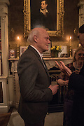 JUSTIN CARTRIGHT, The Walter Scott Prize for Historical Fiction 2015 - The Duke of Buccleuch hosts party to for the shortlist announcement. <br /> The winner is announced at the Borders Book Festival in Scotland in June.John Murray's Historic Rooms, 50 Albemarle Street, London, 24 March 2015.