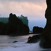Sea stacks at Ruby Beach in Olympic National Park, WA.