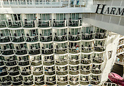 Royal Caribbean, Harmony of the Seas, rooms overlooking the Broadwalk. the ship can guest almost 6000 people